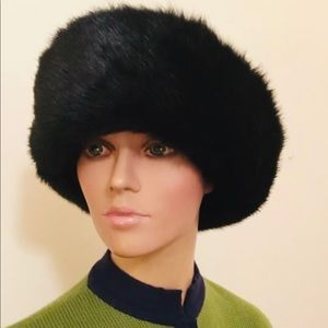 Vintage Faux Ranch mink Russian style hat